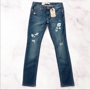 Levi's Girl's 711 Floral Embroidered Skinny Jeans